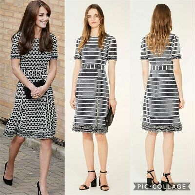NWT S Tory Burch Re-Issued Paulina Fringe Dress Size Small Kate Middleton