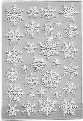Winter Snowflake Glittered Clear Scrapbook Stickers