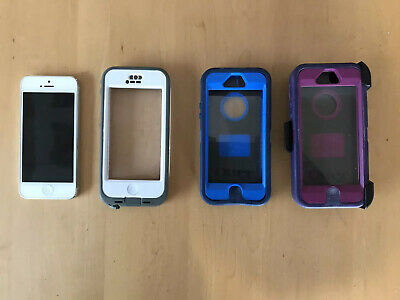 Lot - Apple IPhone 5 16GB Includes Lifeproof Case and Otterboxes