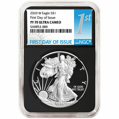 2020-W Proof 1 American Silver Eagle NGC PF70UC FDI First Label Retro Core