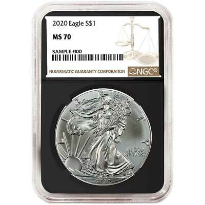 2020 1 American Silver Eagle NGC MS70 Brown Label Retro Core