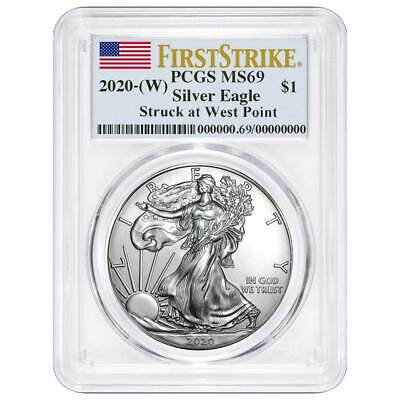 Presale - 2020 W 1 American Silver Eagle PCGS MS69 First Strike Flag Label