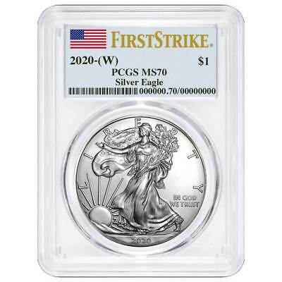 Presale - 2020 W 1 American Silver Eagle PCGS MS70 First Strike Flag Label