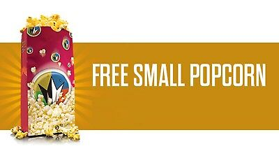 Regal Cinemas Free Small Popcorn Upgradable at Movie Ticket tickets Theaters