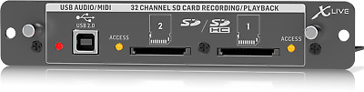 Behringer X-Live SD Expansion Card for 32-Channel Live Recording - Warranty