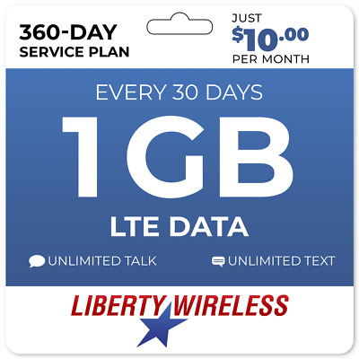 10Mo Liberty Wireless Prepaid Wireless Phone Plan