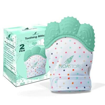 Teething Mittens for Baby Set of 2- Infant Teething Baby Glove Teether Ligh-