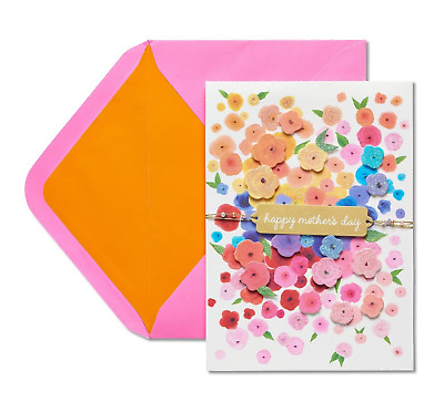 PAPYRUS Greeting Card Mother's Day Flower Cascade with Glitter