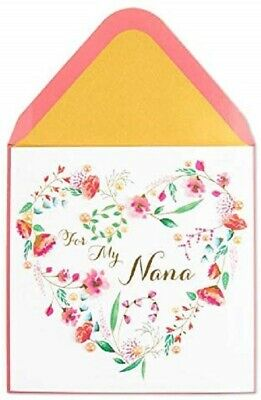 PAPYRUS Greeting Card Mother's Day Floral Heart Nana