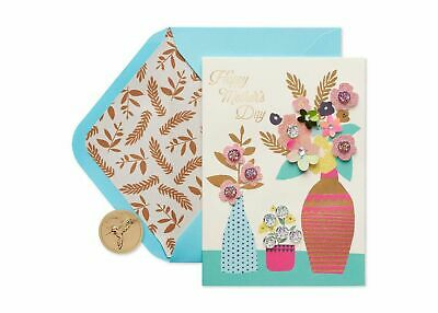 PAPYRUS Greeting Card Mother's Day Patterned Vases