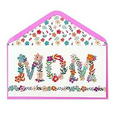 PAPYRUS Greeting Card Mother's Day Flowers - Vines Lettering MOM  Colorful