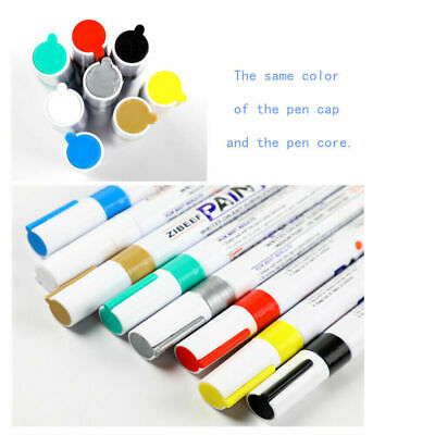 12 Colors Waterproof Paint Markers Oil-based Art Pens for Rubber Cloth Glass