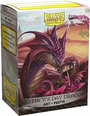 Mothers Day Art Matte 100ct Dragon Shield Sleeves Standard SHIP FREE 10 OFF 2-