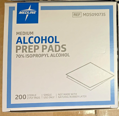200 Alcohol Medium Disposable Prep Pad Sterile Alcohol Swabs Pads Wipes