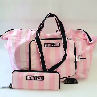 NEW Victorias Secret Packable Nylon Large Duffel Travel Carry On Tote Weekended