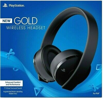 Sony PS4 Gold Wireless Headset Black 7-1 Surround - NEW - Same Day Ship by 4PM