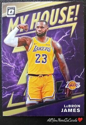 LeBron James 2019-20 Panini Optic My House Insert 13 Los Angeles Lakers Card