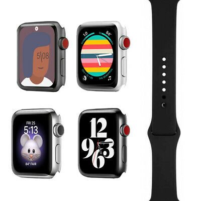 Apple Watch Series 3 - 38mm42mm - All Case Colors - Black Sport Band - GPS-4G