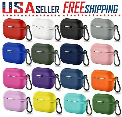For Apple AirPods Pro Silicone Soft Full Cover Case Protector - Key Chain 🔵