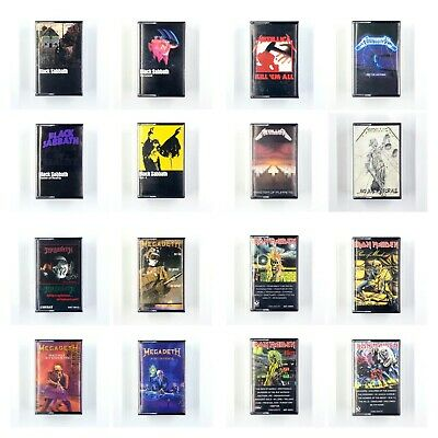 BUILD UR OWN Metal Cassette Tape Lot - Black Sabbath Maiden Metallica - More