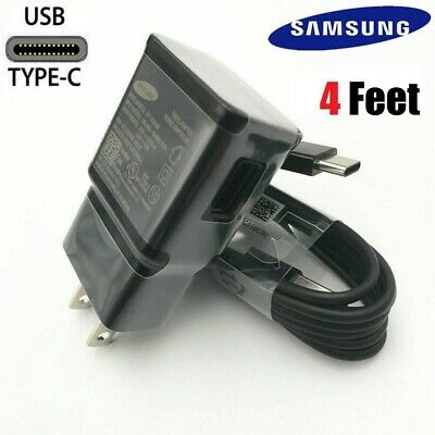 OEM Samsung Galaxy Note10 S9 S8 Plus Original Fast Wall Charger 4FT Type-C Cable