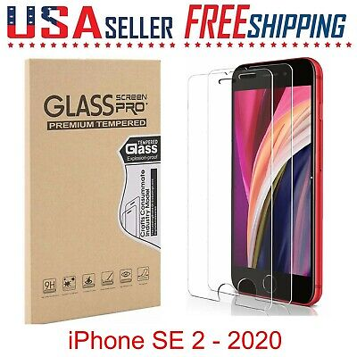 2 Pack For Apple iPhone SE 2 - 2020 Tempered GLASS Screen Protectors - 4-7 inch