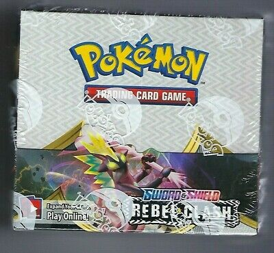 Pokemon Sword and Shield Rebel Clash BOOSTER BOX 36 ct NEW SEALED