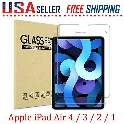 2 Pack For Apple iPad Air 4  3  2  1 Tempered Glass Screen Film Protectors🔴