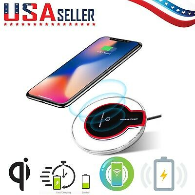QI Wireless Charger Pad Charging iPhone 11ProMaxXS8Galaxy Note 910S10🔵