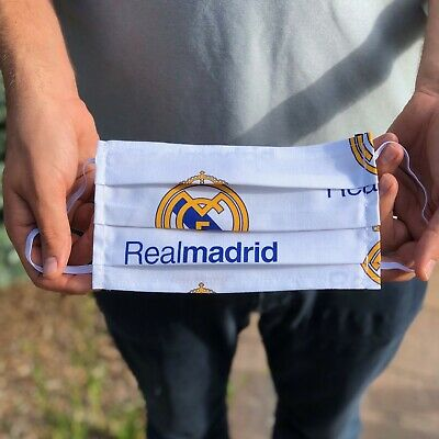 Real Madrid 100 Cotton Washable Handmade Adult Face Mask