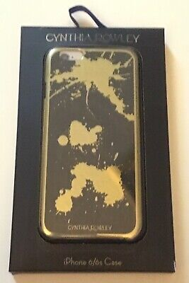Cynthia Rowley iPhone 6  6s Case Black With Gold Color Splatter