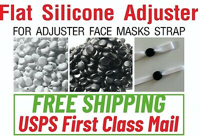 24481005001000 PIECES - Flat Silicone Stopper Adjuster Elastic Cord Sewing