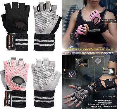 Gym Half Finger Work Out Gloves Sport Weight Lifting Exercise Fitness Training