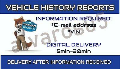 CARFAX HISTORY PDF AUTHENTIC INSTANTLY DELIVERED IN MINUTES