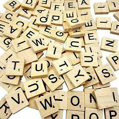 SCRABBLE WOOD TILES 100Pieces Full Sets Letters Wooden Replacement Pick