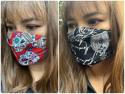 Face Mask Cotton Fabric with Elastics Mask for Glasses Wearers - Small Beard