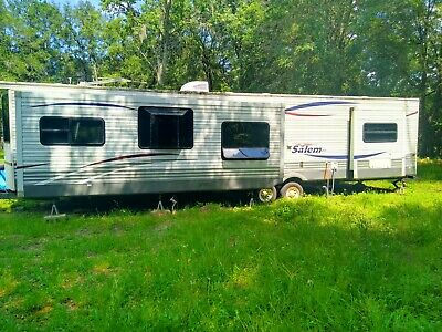 Large Used Camper Trailer for Living Full Time or Just Taking on Vacation