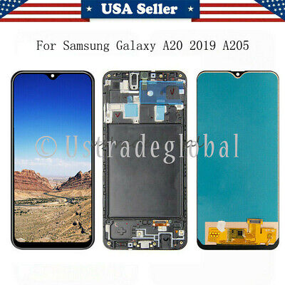 For Samsung Galaxy A20 2019 A205U LCD Touch Screen Digitizer ± Frame Replacement