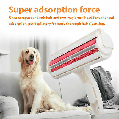 Pet Dog Cat Hair Lint Remover Reusable Fur Roller Sofa Clothes Cleaning Brush