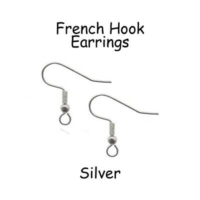 Silver Earring Hooks French Hook Earrings Surgical Stainless Steel - Pick Qty