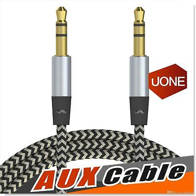 AUX CORD 3-5MM MALE TO MALE AUXILIARY AUDIO CABLE FOR CAR HEADPHONE IPHONE 3FT