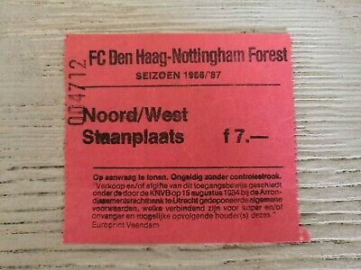 Ticket FC Den Haag - Nottingham Forest Friendly 1986