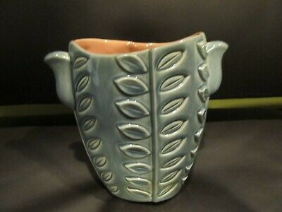 Vintage 1940S DECO STYLE  Red Wing Pottery 7 vase 1115  VERY COOL