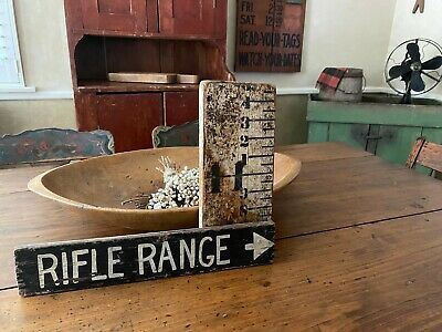 AWESOME PAIR OF ANTIQUE  EARLY PAINTED SIGNS NICE FOLK ART AAFA