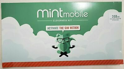 Mint Mobile Prepaid SIM Card Unlimited Talk - Text 3GBMonth LTE for 3 month 3GB