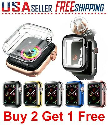 For Apple Watch SE 6 5 4 3 2 1 TPU Silicone Soft Case Cover 44 42 40 38mm iWatch