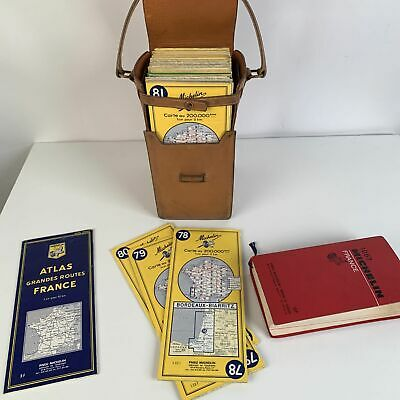 Authentic Hermes Vintage Circa 1959 Collectors Michelin Travel Map Case Holder