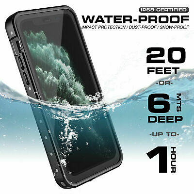 For iPhone 12 11 Pro Max Mini Case Waterproof FRE With Screen Protector Series