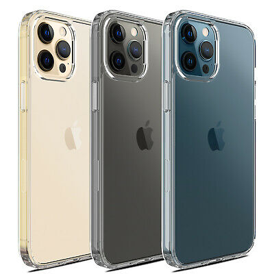 For iPhone 12ProMaxMini11 Case Crystal Clear Slim Shockproof TPU Phone Cover