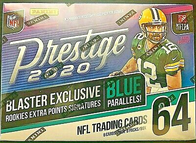 2020 Panini Prestige Football Blaster Box Joe Burrow Tua rookie auto prizm